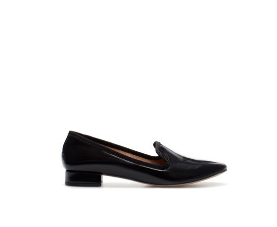 Zara Zara Basic Black Slip-On Shoes