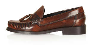 Topshop  Keith2 High Vamp Loafers in Tan