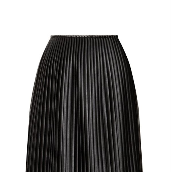 MSGM  Eco Leather Plisse Long Skirt