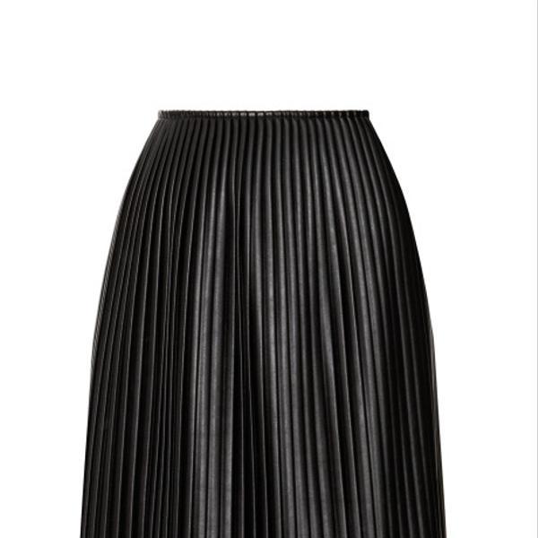 MSGM  Eco Leather Plisse Long Skirt