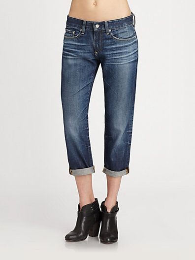 AG Adriano Goldschmied  The Piper Cropped Boyfriend Jeans