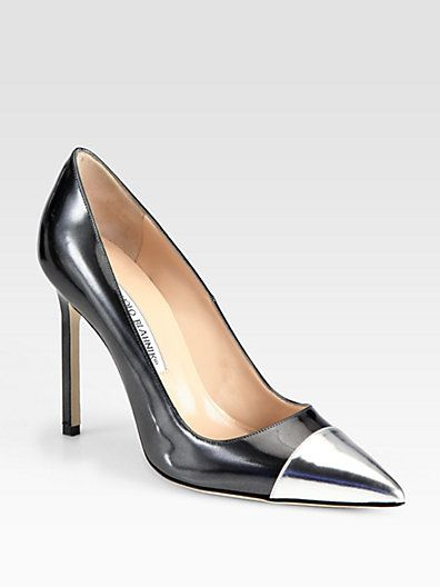 Manolo Blahnik  Bipunta Leather Pumps