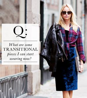 What are some transitional pieces I can start wearing now?