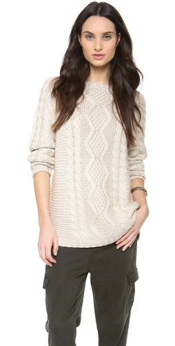Ami Sans La Rue  Cable Knit Sweater