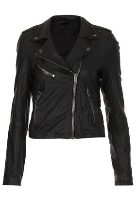 Topshop by Boutique  Shrunken Leather Biker