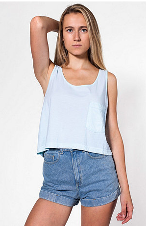 American Apparel  Mid-Length Pocket Tank