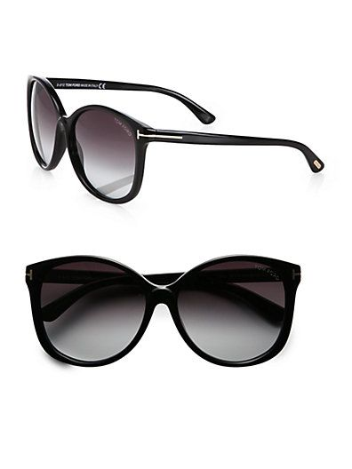 Tom Ford  Alicia Round Acetate Sunglasses
