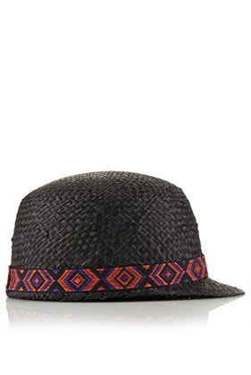 Topshop Straw Riding Cap