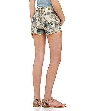 Miss Me  Floral Print Shorts