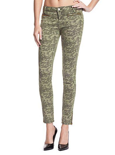 Guess   7-Zip Mid-Rise Jeans