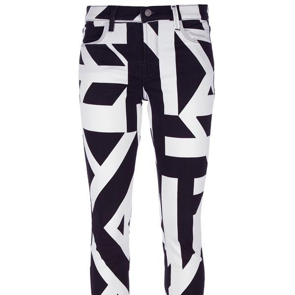 J Brand  Geometric Print Jeans