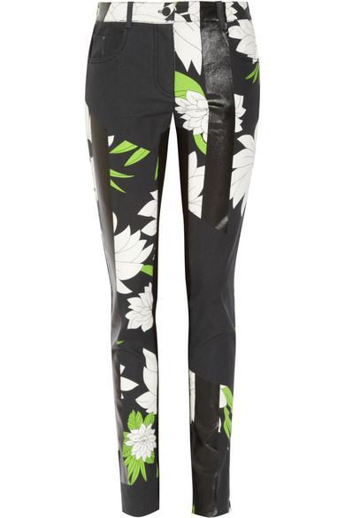 3.1 Phillip Lim  Printed High Rise Skinny Jeans