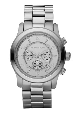 Michael Kors  Silver Oversized Runway Watch