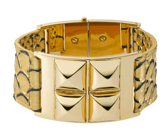 Michael Kors  Python-Embossed Bangle