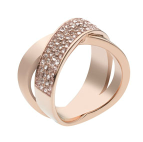 Michael Kors  Pave-Crystal Twist Ring