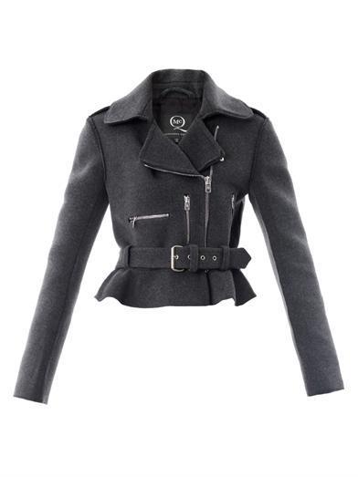 McQ Alexander McQueen  Peplum Biker Jacket