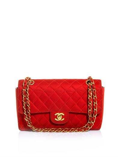 Chanel Vintage Quilted Fabric Shoulder Bag
