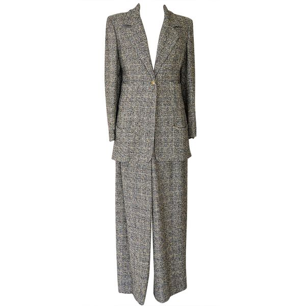 Chanel Vintage Windowpane Pantsuit