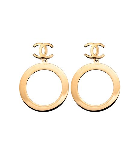 Vintage Dangling Hoop Earrings ($1400) in Gold