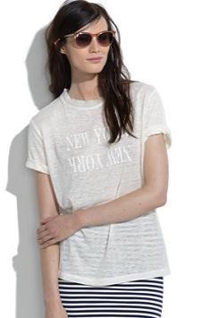 Madewell  Madewell Linen New York New York Tee Shirt