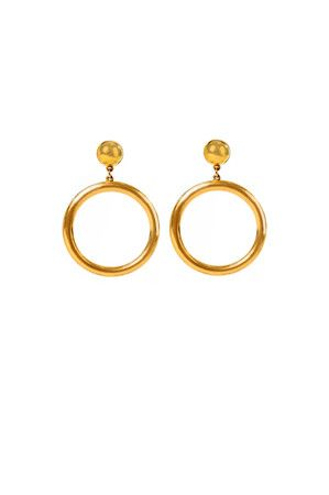 Ben Amun  Riveria Gold Hoop Earring