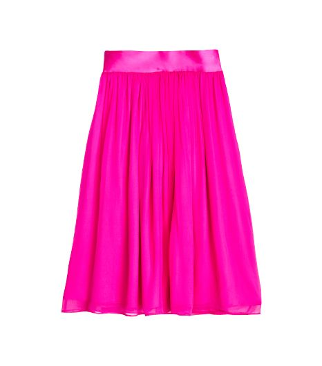 In My Air Chiffon Midi Skirt