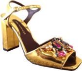 MAWI for Bruno Magli MAWI for Bruno Magli Patent Leather Jeweled Sandals