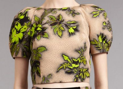 Honor Honor Neon Floral Crop Top