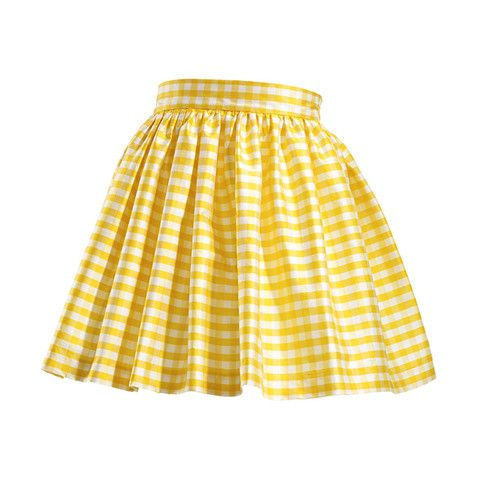 Skot  Yellow Gingham Skirt