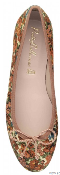 Pretty Ballerinas  Marilyn Flower Textile Flats
