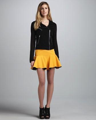 Robert Rodriguez Robert Rodriguez Techno Contrast Flounce Skirt