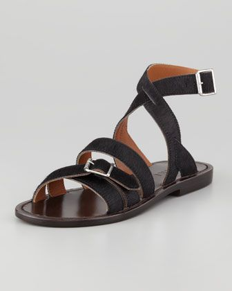 Marni  Flat Calf Hair Sandals