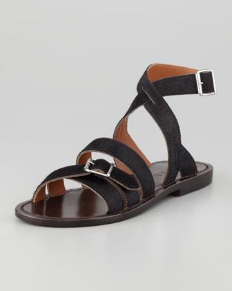 Marni  Flat Calf Hair Sandals