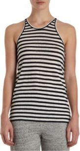 T by Alexander Wang  Striped Racerback Tank