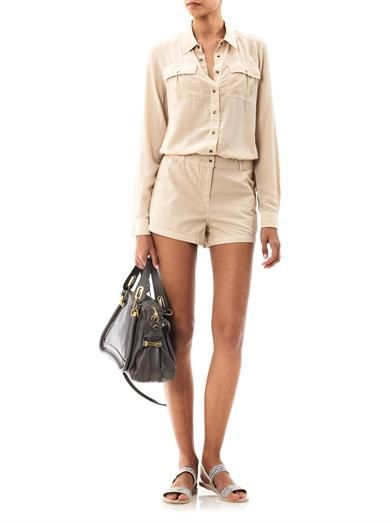 Elizabeth and James  Leo Slouchy Shirt Playsuit