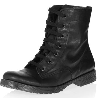 Dorothy Perkins  Black Lace-Up Boots