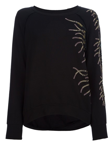 Jo No Fui  Bead Embellished Sweatshirt