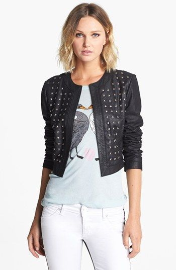 BB Dakota  Blakely Studded Leather Jacket