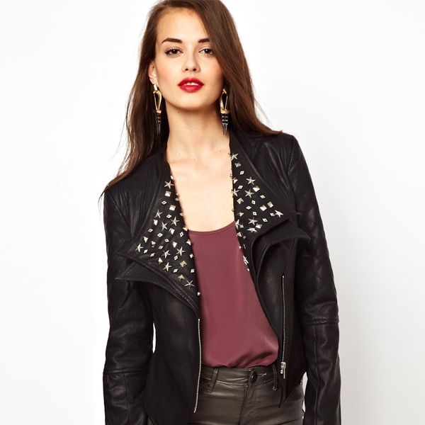 Little Mistress  Studded Leather Jacket