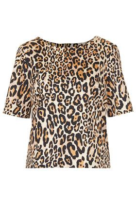 Topshop  Structured Animal Print Tee