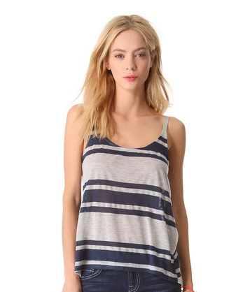 Splendid  Grecian Striped Tank