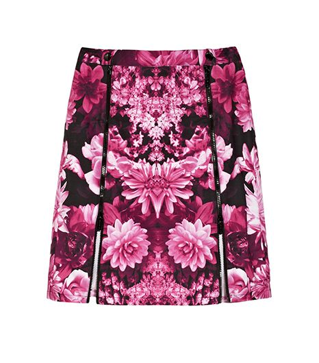 MICHAEL Michael Kors Floral-Print Cotton-Blend Skirt