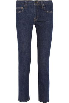 Victoria Beckham  Denim Ankle Slim Cropped Mid-Rise Jeans