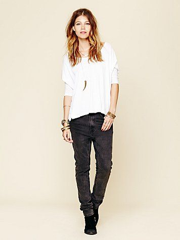 One Teaspoon  Runaway Slouch Skinny Jeans