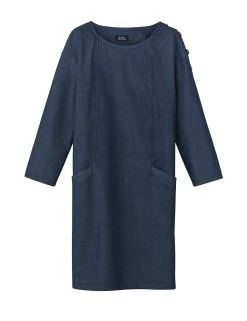 A.P.C.   Sailor Dress in Lightweight Denim