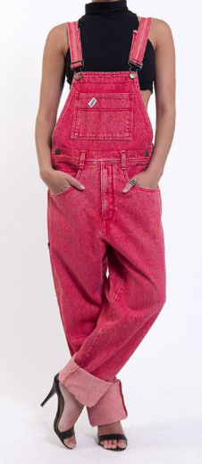 Denim Refinery  The Fire Engine Red Guess Overalls