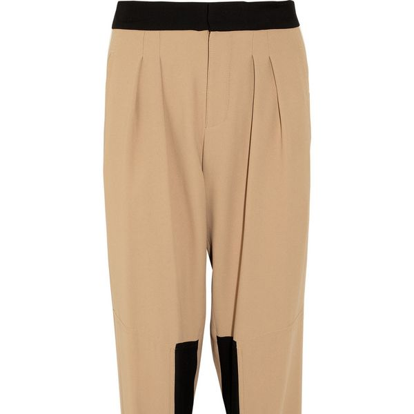Chloe  Paneled Crepe Tapered Pants