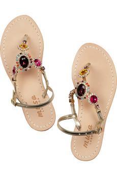 Musa Embellished Leather Sandals