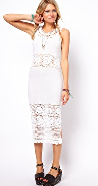 ASOS  Crochet Village Midi Dress