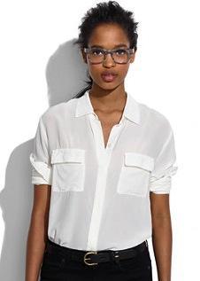 Madewell  Madewell Silk Cargo Shirt